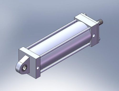 Cilindro Hidráulico CA Aleta Macho traseira com rótula