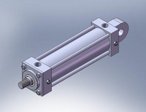 Cilindro Hidraulico CA aleta macho traseira simples