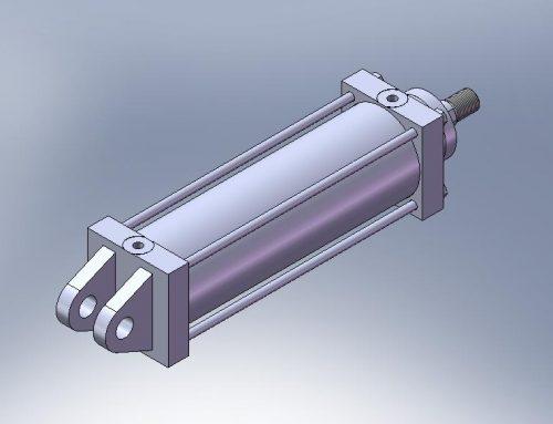 Cilindro Hidráulico CAD Aleta femea traseira